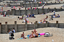 © Licensed to London News Pictures. 24/07/2018<br /> EASTBOURNE, UK.<br /> Heatwave UK continues all this week as people in Eastbourne,East Sussex soak up the sunny weather this afternoon.<br /> Photo credit: Grant Falvey/LNP