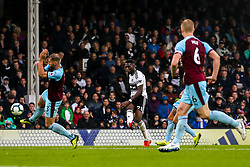 Timothy Fosu-Mensah of Fulham shoots at goal - Mandatory by-line: Robbie Stephenson/JMP - 26/08/2018 - FOOTBALL - Craven Cottage - Fulham, England - Fulham v Burnley - Premier League
