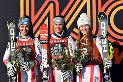 09.03.2017, Are, SWE, FIS Ski Alpin Junioren WM, Are 2017, Super G, Damen, im Bild Tripple Austria Franziska Gritsch, Nadine Fest och Dajana Dengsherz // during ladie's SuperG of the FIS Junior World Ski Championships 2017. Are, Sweden on 2017/03/09. EXPA Pictures © 2017, PhotoCredit: EXPA/ Nisse<br /> <br /> *****ATTENTION - OUT of SWE*****