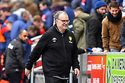 Leeds United Manager Marcelo Bielsa smiles at full time after a 1-0 win over Bristol City during the EFL Sky Bet Championship match between Bristol City and Leeds United at Ashton Gate, Bristol, England on 9 March 2019.