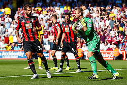 Artur Boruc of AFC Bournemouth comes out to save another attempt from Aston Villa - Mandatory by-line: Jason Brown/JMP - Mobile 07966 386802 08/08/2015 - FOOTBALL - Bournemouth, Vitality Stadium - AFC Bournemouth v Aston Villa - Barclays Premier League - Season opener