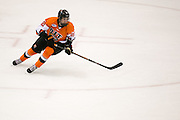 RIT's Garrett McMullen skates during a game at the Gene Polisseni Center on Saturday, October 4, 2014. McMullen had two goals twelve seconds apart in the first period.