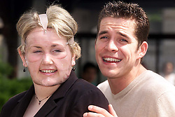 St Bartholomews Hospital, Child of Resolution Awards 2000. UNA McGURK with SEAN McGUIRE FROM EASTENDERS, GRANGE HILL AND SUNBURN, May 8, 2000. Photo by Andrew Parsons / i-images..