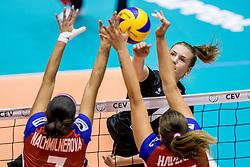 22-08-2017 NED: World Qualifications Belgium - Czech Republic, Rotterdam<br /> Linde Hervent #7 of Belgium, Iva Nachmilnerova #7 of Czech Republic, Helena Havelkova #16 of Czech Republic