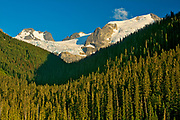 Peaks of the Coast Mountains from Lower Joffre Lake<br /> Joffre Lakes Provincial Park<br /> British Columbia<br /> Canada<br />