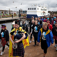 Images from The Glasgow Kiltwalk 2013. The KIltwalker start the half distance walk from Clydebank.