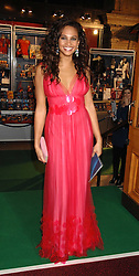 ALESHA DIXON at the gala night of Varekai by Cirque du Soleil at The Royal Albert Hall, London on 8th January 2008.<br />