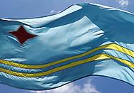 Flag of Aruba.<br /> Vlag van Aruba