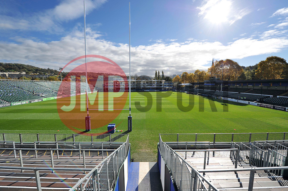 A general view of the Recreation Ground - Photo mandatory by-line: Patrick Khachfe/JMP - Mobile: 07966 386802 25/10/2014 - SPORT - RUGBY UNION - Bath - The Recreation Ground - Bath Rugby v Toulouse - European Rugby Champions Cup