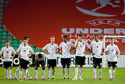 Team Germany during the UEFA European Under-17 Championship Final match between Germany and Netherlands on May 16, 2012 in SRC Stozice, Ljubljana, Slovenia. (Photo by Urban Urbanc / Sportida.com)