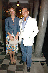 SHEHERAZADE GOLDSMITH and LUCA DEL BONO at the Quintessentially Summer Party held at Debenham House, 8 Addison Road, London W14 on 15th June 2006.<br />