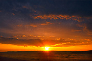 Sunrise on grasslands, Grasslands National Park, Saskatchewan, Canada