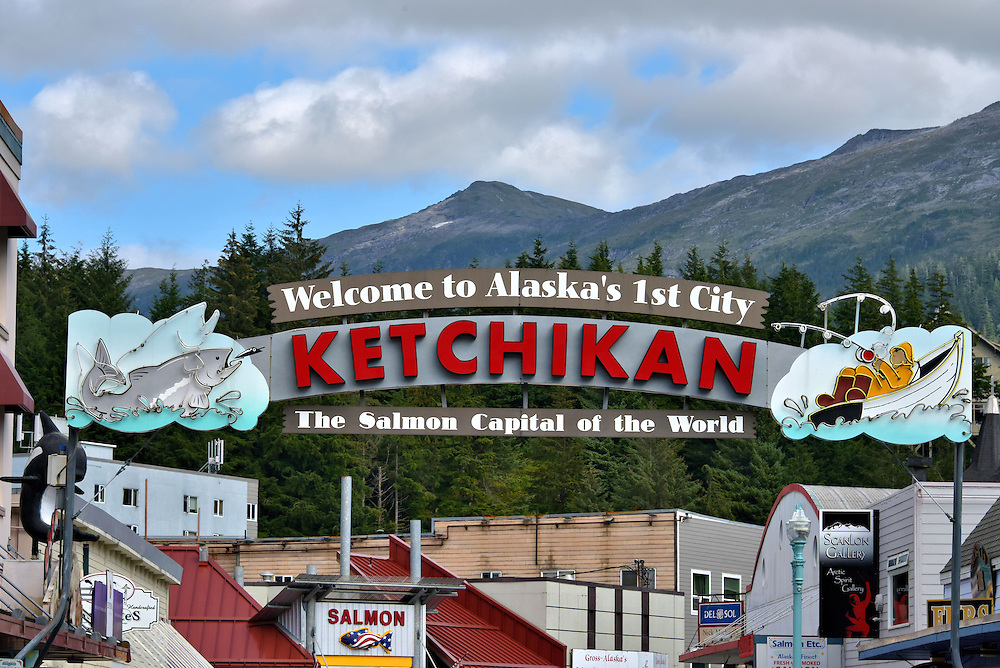 Welcome to Ketchikan Sign in Ketchikan, Alaska<br />