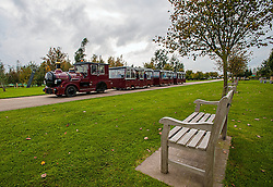 © Licensed to London News Pictures. 17/10/2016. Alrewas  Staffordshire England  <br /> The National Memorial  Arboretum has its own and land train visitors,  can travel in comfort to view 150 ace site<br /> located in the National Forest .<br /> Photo Credit:Rob Leyland/LNP