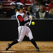 15 February 2018: The San Diego State softball team hosts #25 Kentucky to open up the 28th annual Campbell/Cartier Classic. San Diego State shortstop Shelby Thompson (20) grounds out into a fielders choice in the bottom of the fourth inning. The Aztecs lost to the Wildcats 5-0.<br /> More game action at www.sdsuaztecphotos.com