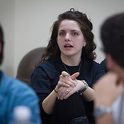 "Discussion titled ""Take Two: Resistance and the 3G's"" as part of Northeastern University's Holocaust Remembrance Day at Northeastern University Hillel on April 8, 2014 in Boston, Massachusetts. (Photo by Elan Kawesch)"