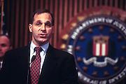 WASHINGTON, DC - September 24:  Director of the FBI Louis Freeh discussing Drug King Pin Romon Arellano Felix in Washington, DC. September 24, 1997  (Photo RIchard Ellis)