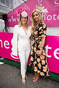03/08/2017   Repro free Fashionista Marietta Doran with   Former Miss World Roasana Davison at the g Hotel competitions  at the Galway Races . Photo: Andrew Downes, xposure