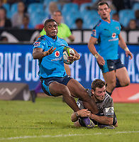 PRETORIA, SOUTH AFRICA - MAY 06: Warrick Gelant of the Bulls of the Bulls in action during the Super Rugby match between Vodacom Bulls and Crusaders at Loftus Versfeld on May 06, 2017 in Pretoria, South Africa.<br /> (Photo by Anton Geyser/Gallo Images)