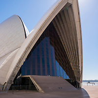 A view of the iconic Sydney Opera House in Sydney, Australia.