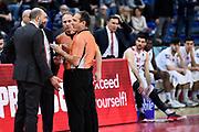 Leka Spiro Buscaglia Maurizio<br /> Victoria Libertas Pesaro - Dolomiti Energia Trentino<br /> Lega Basket Serie A 2017/2018<br /> Pesaro, 25/03/2018<br /> Foto A.Giberti / Ciamillo - Castoria