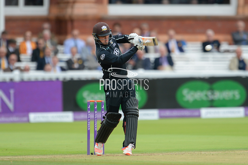 Jason Roy of Surrey batting during the Royal London One Day Cup match between Warwickshire County Cricket Club and Surrey County Cricket Club at Lord's Cricket Ground, St John's Wood, United Kingdom on 17 September 2016. Photo by David Vokes.