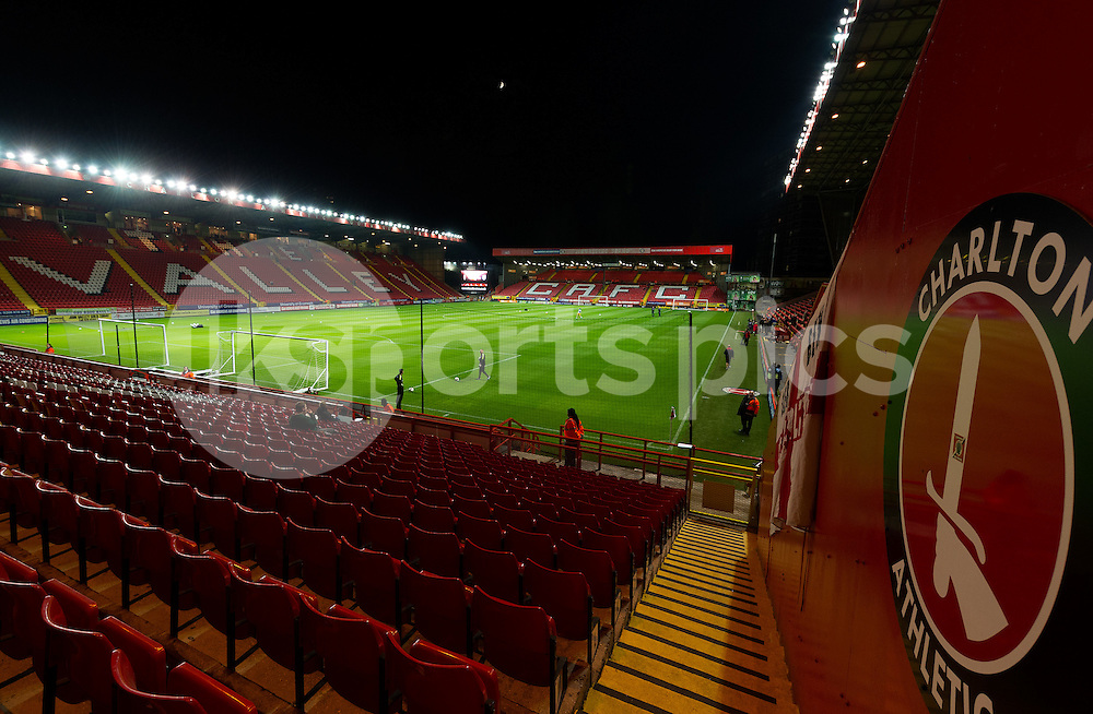 A view inside the Valley during the Sky Bet Championship match between Charlton Athletic and Preston North End at The Valley, London, England on 20 October 2015. Photo by Vince  Mignott.