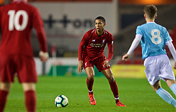 ST HELENS, ENGLAND - Monday, January 21, 2019: Liverpool's Elijah Dixon-Bonner during the FA Youth Cup 4th Round match between Liverpool FC and Accrington Stanley FC at Langtree Park. (Pic by Paul Greenwood/Propaganda)