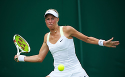 LONDON, ENGLAND - Monday, June 25, 2012: Andrea Hlavackova (CZE) during the Ladies' Singles 1st Round match on the opening day of the Wimbledon Lawn Tennis Championships at the All England Lawn Tennis and Croquet Club. (Pic by David Rawcliffe/Propaganda)