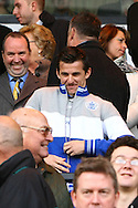 Picture by Paul Chesterton/Focus Images Ltd.  07904 640267.26/11/11.QPR's Joey Barton takes his seat in the Directors box before the Barclays Premier League match at Carrow Road Stadium, Norwich.