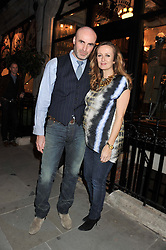 JASON BROOKS and LUCY YEOMANS at a reception hosted by Ralph Lauren Double RL and Dexter Fletcher before a private screening of Wild Bill benefitting FilmAid held at RRL 16 Mount Street, London on 26th March 2012.