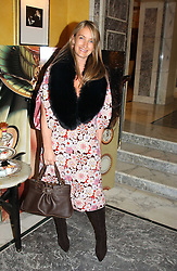 ANYA HINDMARCH at the launch of MAC's High Tea collection with leading British designers held at The Berkeley Hotel, London on 17th January 2005.  MAC has collabroated with The Berkeley's Pret-a-Portea, which adds a creative twist to th classic elements of the English afternoon tea with cakes and pastries inspired by fashion designs.<br />