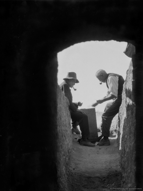 Outside the Dug Out, Coober Pedy Opal Fields, South Australia, 1930
