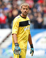 Wigan Athletic goalkeeper Jussi Jaaskelainen