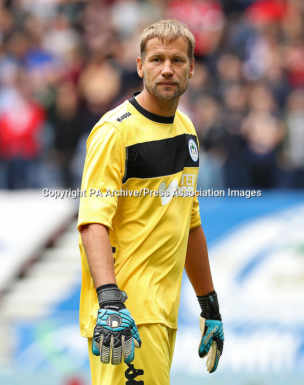 Wigan Athletic goalkeeper Jussi Jaaskelainen