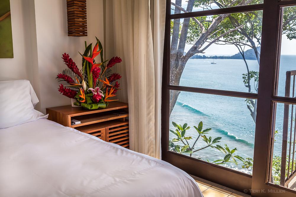 Room with a view at Arenas del Mar Resort, Manuel Antonio, Costa Rica.