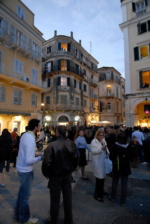 One of a series of landscape and travel photographs of Corfu, Greece taken by Matthew Butterfield. Includes a selection of Easter celebration and festival photographs from Kerkyra.