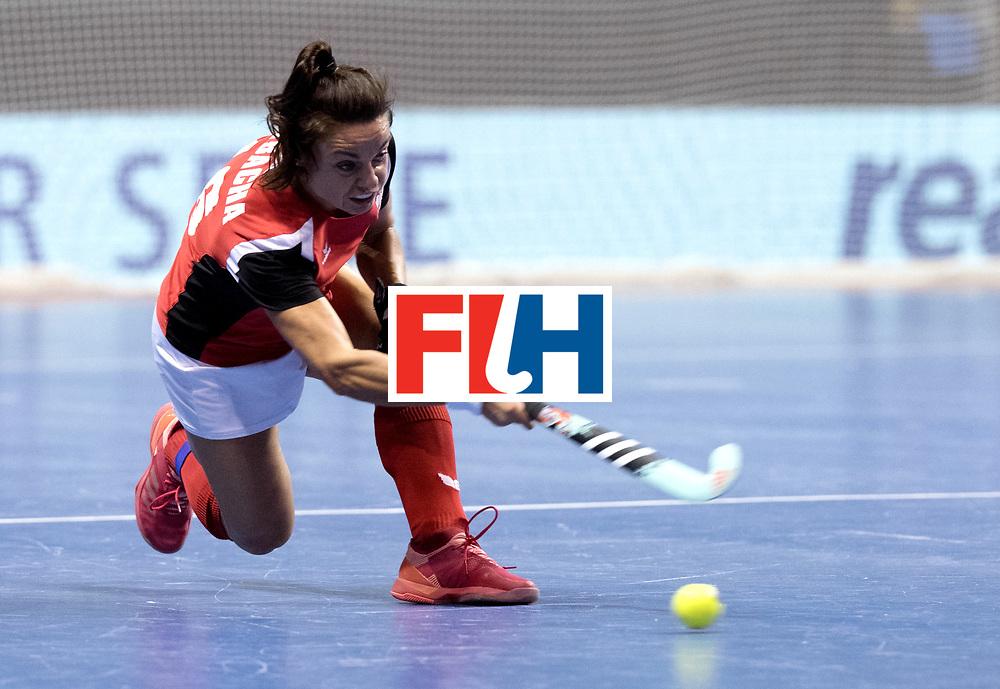 BERLIN - Indoor Hockey World Cup<br /> Women: Poland - USA<br /> foto: Marlena Rybacha.<br /> WORLDSPORTPICS COPYRIGHT FRANK UIJLENBROEK
