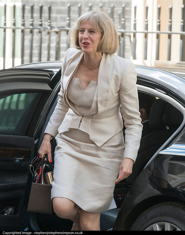 © Licensed to London News Pictures. 10/06/2014. Westminster, UK Theresa May, The Home Secretary arrives at Cabinet 10th June 2014. Photo credit : Stephen Simpson/LNP