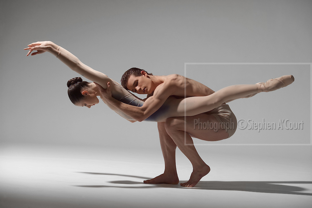 Graduates of the NZ School of Dance, Jessica Fishburn and Daniel Asher Smith, photographed at NZSD in April 2005.