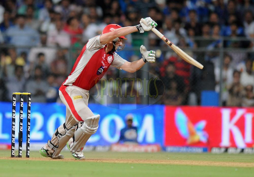 Shaun Marsh of Kings XI Punjab bats  during match 28 of the Indian Premier League ( IPL) 2012  between The Mumbai Indians and the Kings X1 Punjab held at the Wankhede Stadium in Mumbai on the 22nd April 2012..Photo by Pal Pillai/IPL/SPORTZPICS..