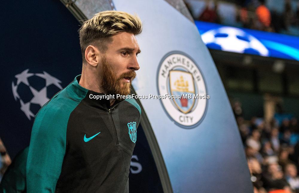 2016.11.01 Manchester<br /> Pilka nozna Liga Mistrzow sezon 2016/2017<br /> Manchester City - FC Barcelona<br /> N/z Lionel Messi<br /> Foto Sebastian Frej / PressFocus<br /> <br /> 2016.11.01 Manchester<br /> Football Champions League season 2016/2017<br /> Manchester City - FC Barcelona<br /> Lionel Messi<br /> Credit: Sebastian Frej / PressFocus