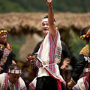 Bunun man performs Pasibutbut, Namasia Township, Kaohsiung County, Taiwan