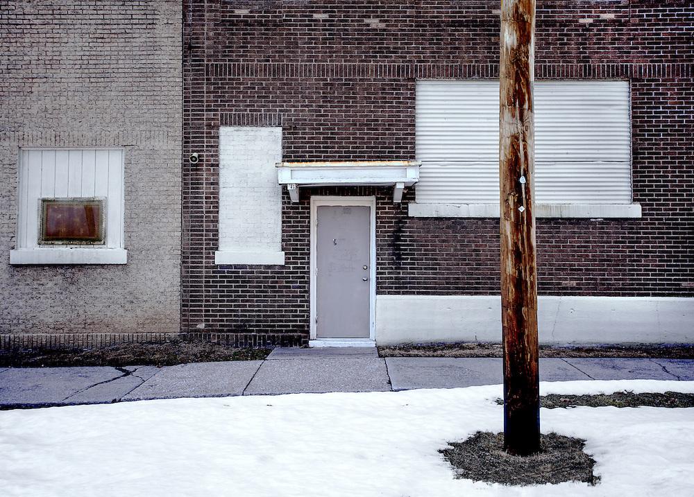 Hopefully, the last snow of winter on Wade Street in Toledo, Ohio. March, 2014.