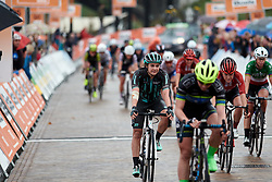 Leah Thomas (USA) crosses the line at Boels Ladies Tour 2019 - Stage 4, a 135.6 km road race from Arnhem to Nijmegen, Netherlands on September 7, 2019. Photo by Sean Robinson/velofocus.com