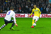 Pablo Hernandez of Leeds United (19) passes the ball during the EFL Sky Bet Championship match between Preston North End and Leeds United at Deepdale, Preston, England on 9 April 2019.