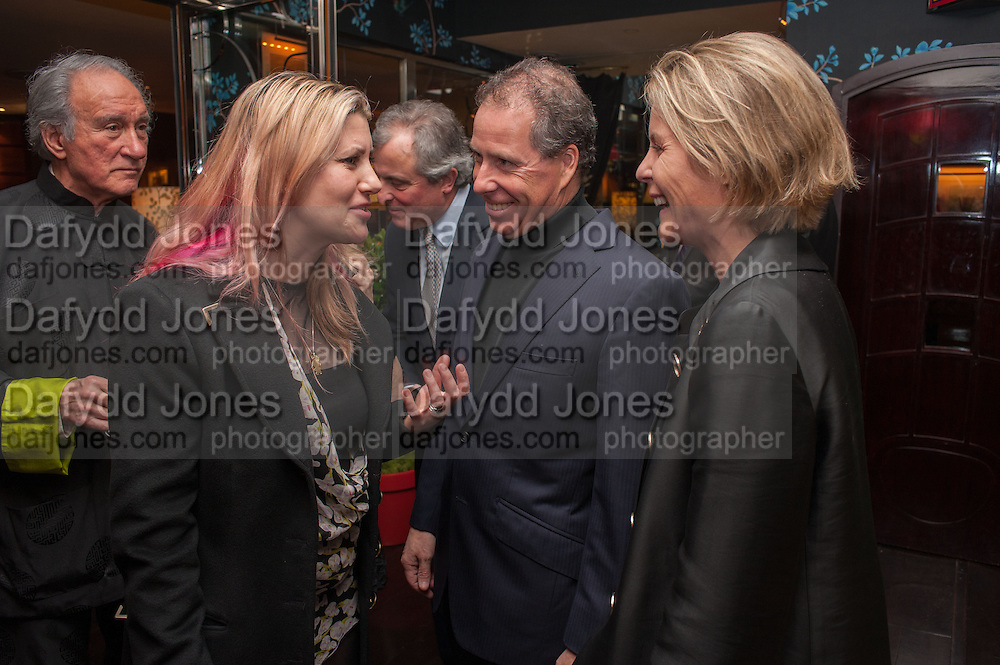 SIR MARK WEINBERG; SARA PARKER BOWLES; LORD ASTOR; LORD LINLEY; LADY LINLEY, Chinese New Year dinner given by Sir David Tang. China Tang. Park Lane. London. 4 February 2013.