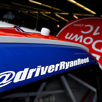 The car of Ryan Reed (16) sits in the garage before practice for the Coca-Cola Firecracker 250 at Daytona International Speedway in Daytona Beach, Florida.