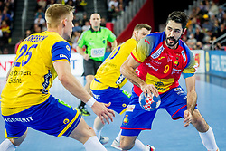 Raul Entrerrios (ESP) during handball match between National teams of Spain and Sweden in Final match of Men's EHF EURO 2018, on January 28, 2018 in Arena Zagreb, Zagreb, Croatia . Photo by Ziga Zupan / Sportida