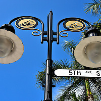 Fifth Avenue South Street Sign Lamp Post in Naples, Florida<br />